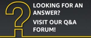 QA Forum Button