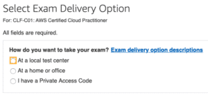 AWS Cloud Practitioner Exam from Home